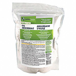 Oil Only Absorbent,Bag,1.5 cu. ft.,White