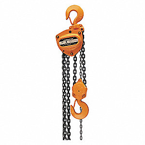 Manual Chain Hoist, 40,000 lb. Load Capacity, 10 ft. Hoist Lift