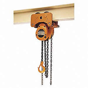 Low Headroom Chain Hoist,10 ft.Lift