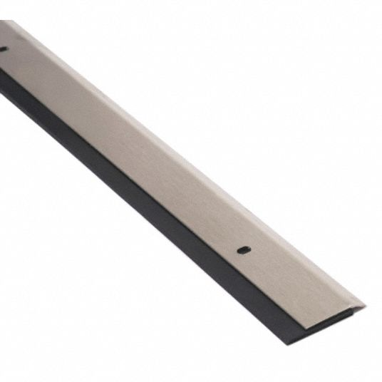 National Guard Single Fin Door Sweep Stainless Steel 3 Ft Length 1 1 4 In Flange Height 7 16 In Insert Size 45nw14 200nss 36 Grainger