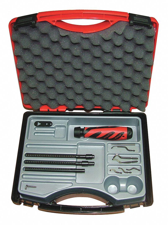 Hi Speed Stl. Deburring Tool Set Plastic
