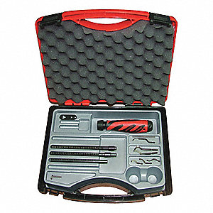 Deburring Tool Set, Plastic, Hi Speed Stl.