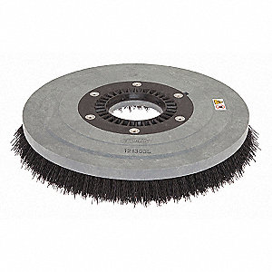 "20"" Round Cleaning, Scrubbing Magnetic Floor Machine Brush for 20"" Machine Size, Black"