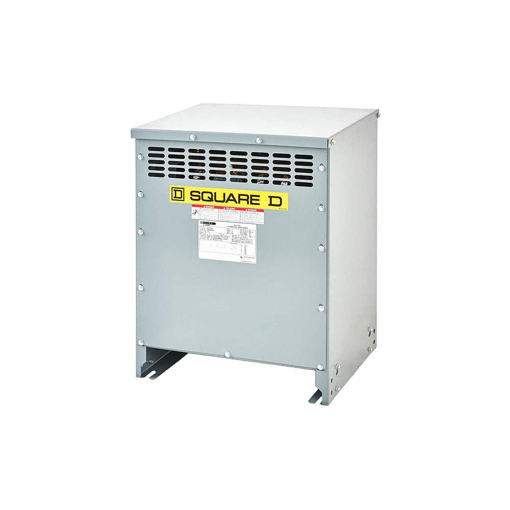 SQUARE D 15kVA Three Phase Transformer, Input Voltage: 480VAC Delta ...
