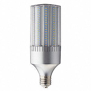 65 Watts LED Lamp, Cylindrical, Mogul Screw (E39), 6349 Lumens, 4200K Bulb Color Temp.