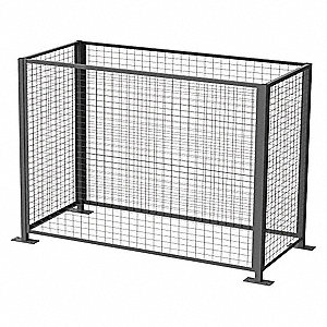 Drum Safety Enclosure, Electric, Explosion-Proof Gate Switch, Overall Width 40""