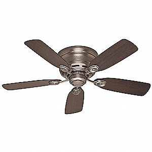 "Decorative Ceiling Fan,42"",Pewter"
