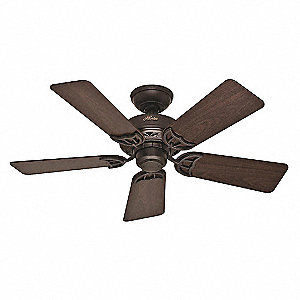 "5-Blade Decorative Ceiling Fan, 120, 3-Speed, 42"" Blade Dia."