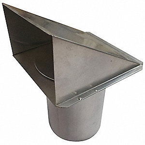 Aluminum Wall Cap with 5-49/64 x 5-27/32 Flange Size (In.)