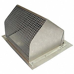 Aluminum Wall Cap with 9-1/16 x 9-1/16 Flange Size (In.)