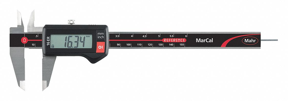 4-Way Digital Caliper,  Range 0 in to 6 in, 0 mm to 150 mm,  IP Rating Not Rated,  SPC Output No