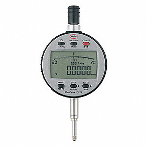 "Electronic Digital Indicator, 0.500""/12.7mm Range, 0.00002""/0.0005mm Resolution, 0.005"" Accuracy"