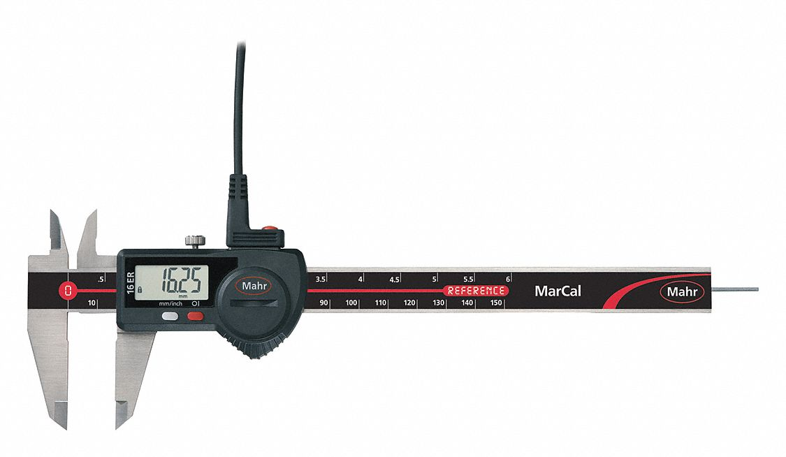 4-Way Digital Caliper,  Range 0 in to 6 in, 0 mm to 150 mm,  IP Rating Not Rated,  SPC Output Yes
