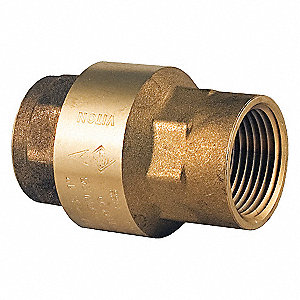 "1"" Check Valve, Archetype: Single, Inline Spring, FNPT x FNPT"