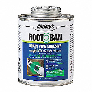 Drain Pipe Adhesive,Green,16 oz.