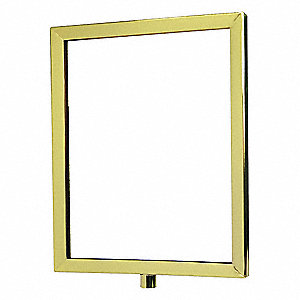 Acrylic Sign,Polished Brass,14 in. L