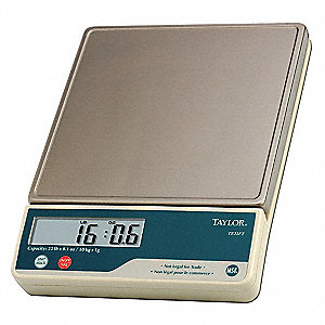 Portioning Scale,22 lb.,12-1/4 in. L,SS