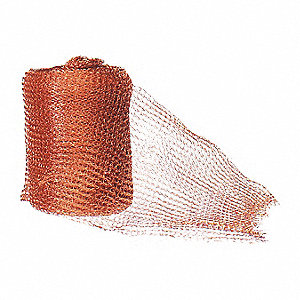 "Wire Mesh,240"" L. x 6"" W.,Brown"
