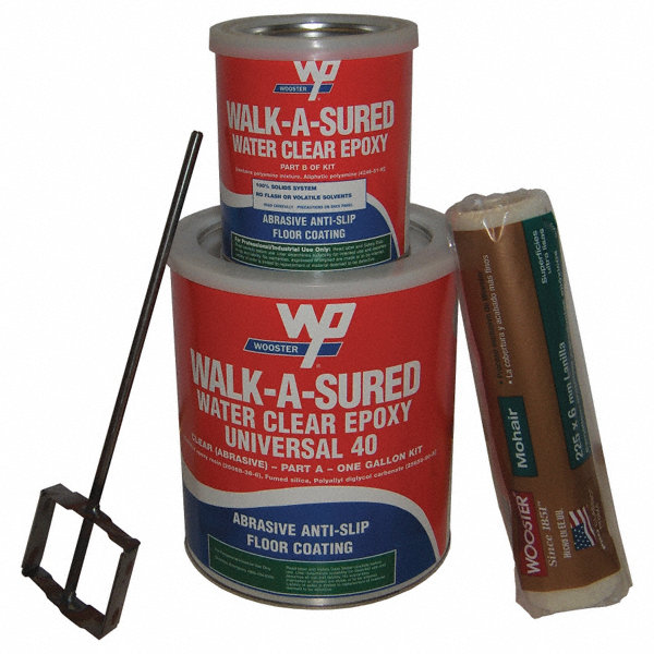 Anti Graffiti Clear Coat For Floors : Wooster products anti slip epoxy floor coating