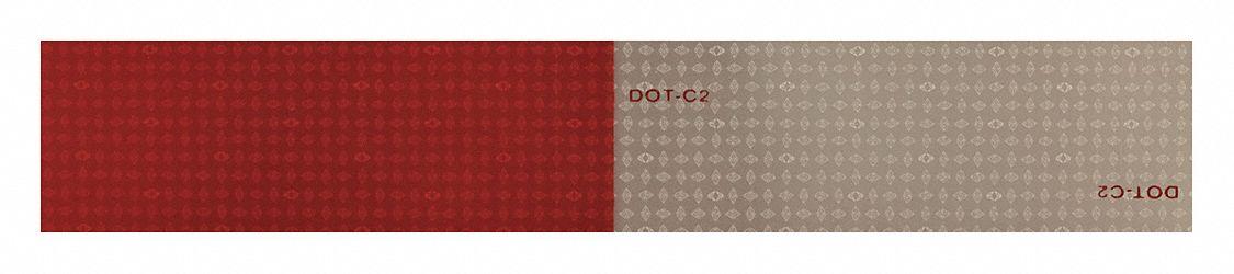 Reflective Tape,Red//White,12 in.L,2 in.W ORALITE 18359