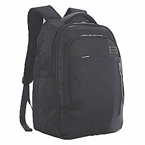 "Nylon Twill Laptop Carrying Backpack for Laptop Up to 15.6"", Black"