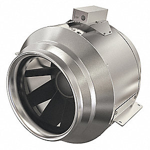 "Steel Inline Duct Fan, Fits Duct Dia. 18"", Voltage 460"