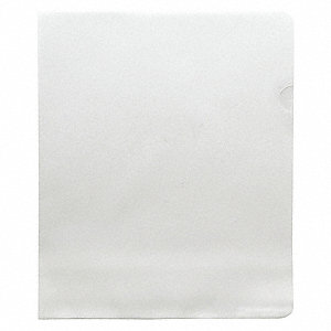 File Jacket,Clear,8-1/2 x 11 in.,PK25