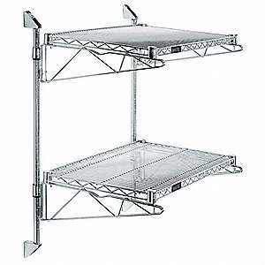 Wire Wall Shelving | Gav Ventilated Stainless Steel Wire Wall Shelf 48 W X 18 D X 34 H