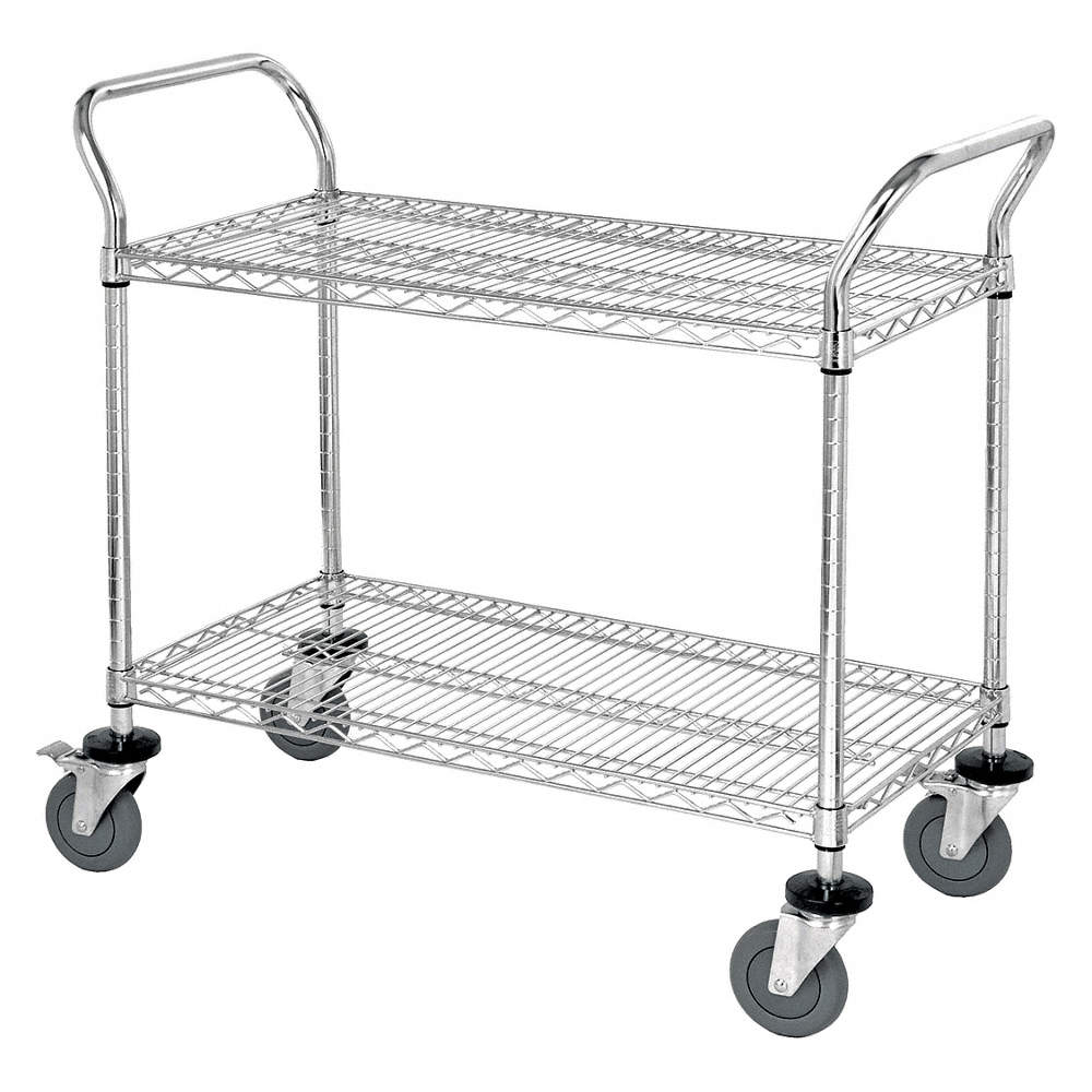 GRAINGER APPROVED Wire Utility Cart,51 in. L x 24 in. W - 45TW16 ...