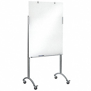 "Dry Erase Board,48""x36"",Mobile/Casters"