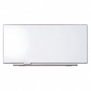"Gloss-Finish Porcelain Dry Erase Board, Wall Mounted, 44""H x 96"""