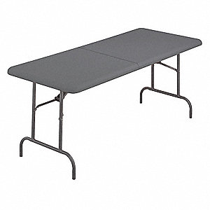 "Rectangle Folding Table, 29"" Height x 96"" Width, Charcoal"