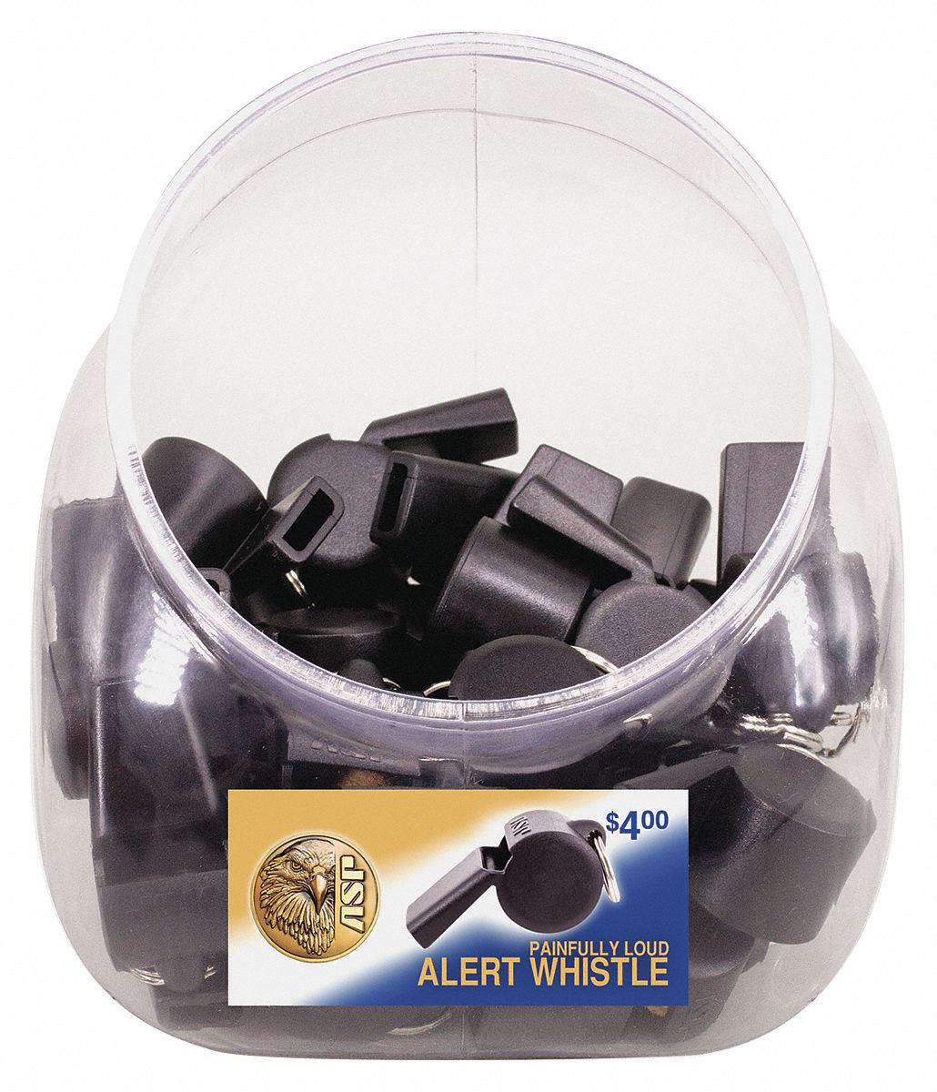 Polymer Whistle,  Black,  PK 25