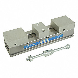 Vise,Double Station with Soft Jaw,4 in H