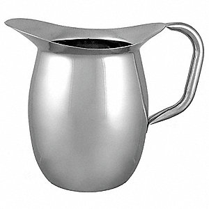Bell Pitcher,3 qt, Silver