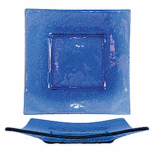 Deep Square Plate,Blue,11x11 In,PK12