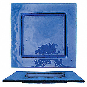 Square Plate,Blue,4x4 In,PK36