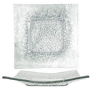 Deep Square Plate,Clear,9x9 In,PK12