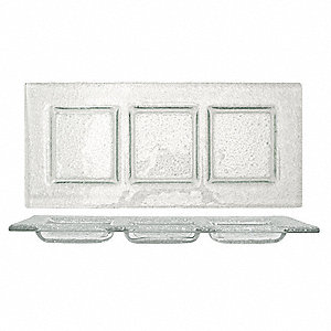 Deep Square Plate,Clear,14x14 In,PK6