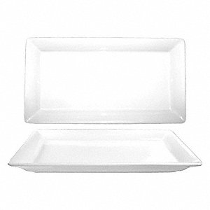 Rectangle Plate,White,21x13 In