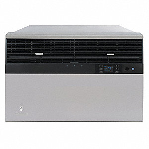 208/230 Window Air Conditioner, 11,800/12,000 BtuH Cooling, Gray, Includes: Remote Control with Batt