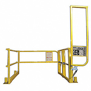 Mezzanine Pivot Safety Gate,Steel,44in H