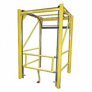 Vrtical Safety Gate,Manual,Steel,108in H