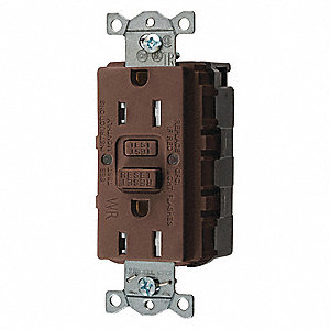 15A Commercial Environments Receptacle, Brown; Tamper Resistant: Yes