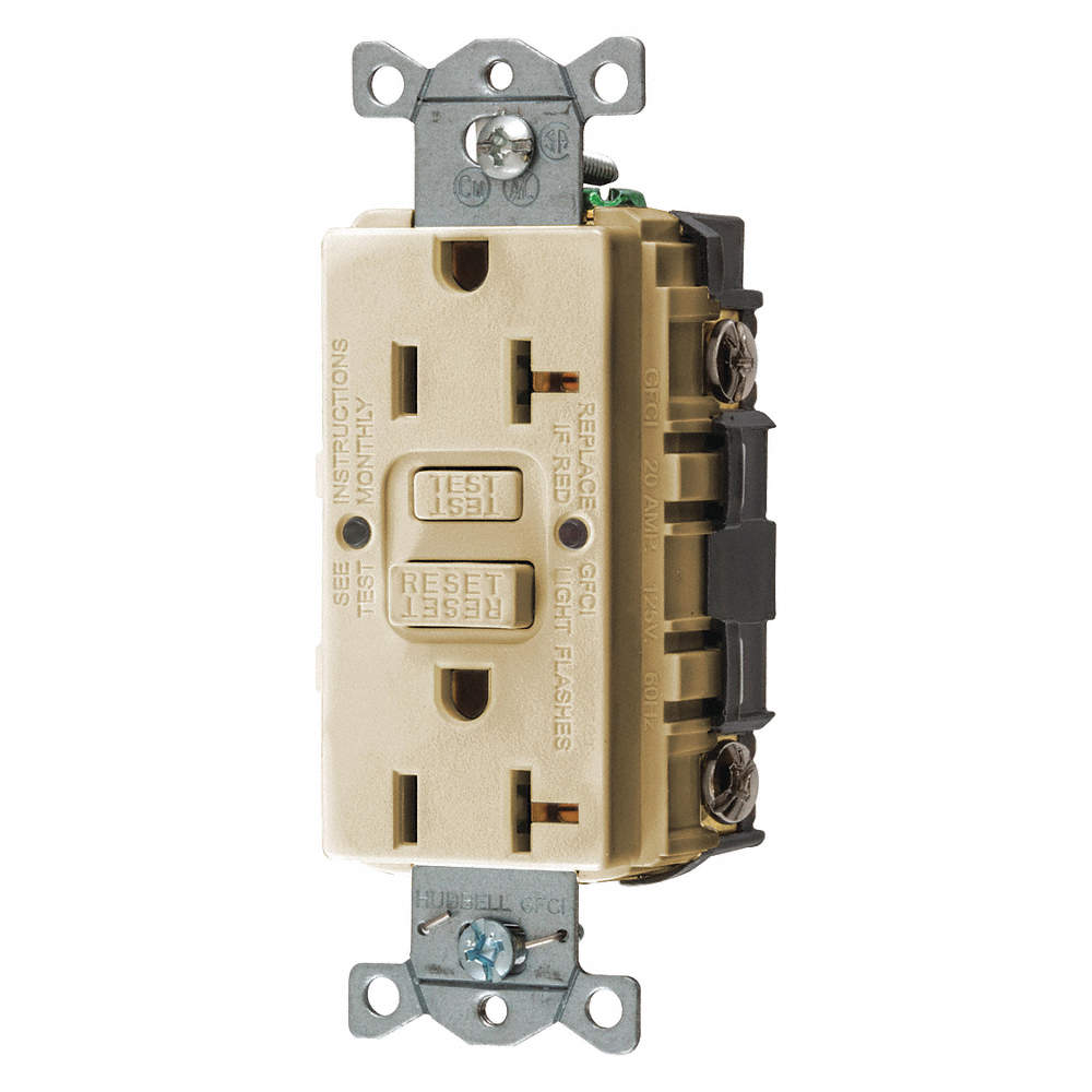 HUBBELL WIRING DEVICE-KELLEMS 20A Industrial Environments Receptacle ...