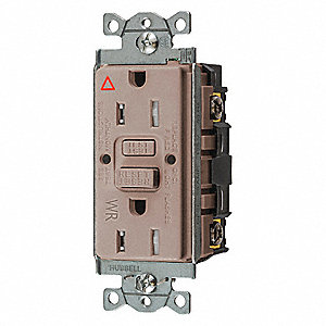 15A Commercial Environments Isolated Ground Receptacle, Almond; Tamper Resistant: Yes