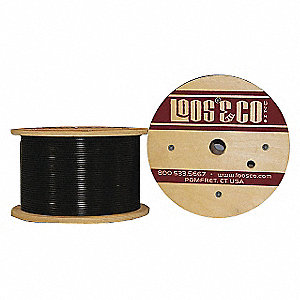 Cable, 50 ft, Black Nylon, 3/16 in, 840 lb