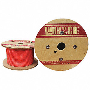 Cable,100 ft.,Red Vinyl,3/16 in.,740 lb.