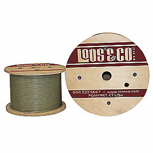 Cable, 500 ft., Nylon, 3/32 in., 184 lb.