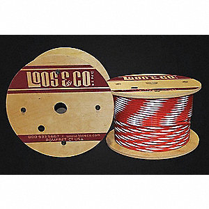 Cable,100 ft,Orange Vinyl,1/8 in,340 lb